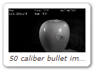 50 caliber bullet impacts in slow motion